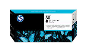 Original <b>HP 80 Black DesignJet</b> Printhead and Printhead Cleaner ...