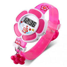 Pink <b>Kids Watches</b> Flower <b>Cute Children Watches Cartoon</b> Silicone ...