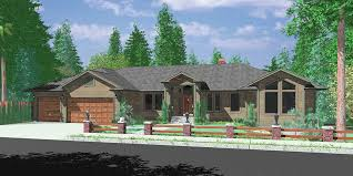 Ranch House Plans  Main Floor Master House Plans  House front drawing elevation view for Ranch house plans  main floor master house plans