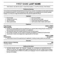 Free Resume Templates: 20 Best Examples for all Jobseekers ... More Resume Templates