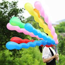 20pcs Fashion Multicolor <b>Screw Twisted</b> Latex <b>Balloon</b> Spiral Long ...