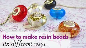 How to make <b>beads</b> with <b>resin</b> - YouTube