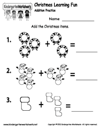Free Kindergarten Christmas Worksheets - Keeping up with the ...Christmas Addition Worksheet