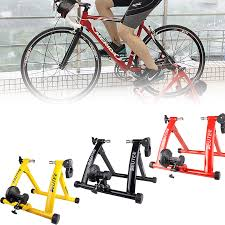 Bike Trainer Stand <b>Portable Stainless Steel</b> Indoor Trainer w ...
