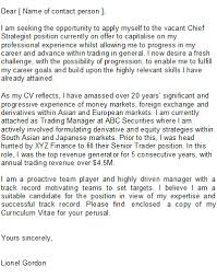 sample trader cover letter writing a speculative cover letter