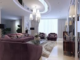 modern decor luxury luxury living room with purple furniture and modern decor