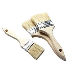 Loweryeah <b>9Pcs Bristle Hair</b> Wall Paint Brushes Wooden Handle Oil ...