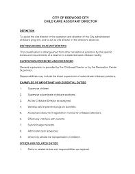 job description resume child care resume daycare teacher assistant job sample resume for daycare teacher