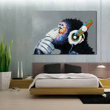 Modern Animal Picture Abstract <b>Canvas Art</b> Oil Painting <b>Home Wall</b> ...