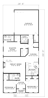 Hemistone Narrow Lot Ranch Home Plan D    House Plans and MoreRanch Narrow Lot With Neoclassic Style  Neoclassical Home Plan First Floor   D    House Plans and More