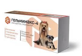 <b>Apicenna Гельмимакс</b>-<b>4</b> таблетки для щенков и собак мелких ...