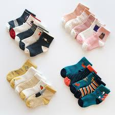 Baby Boy Socks <b>5 Pairs</b> Children <b>Autumn</b> Winter Cartoon Socks for ...