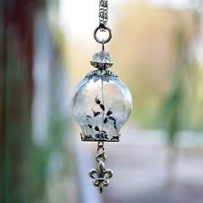 fashion personality handmade diy dandelion pendant necklace glass bottle charm necklace for women for gift blown glass bottle pendant