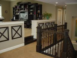 interior awesome interior home office ideas with terrific black painted oak wood desk in decoration on awesome black painted