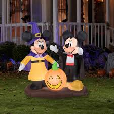 inspired kitchen cdab white brown: gemmy airblown inflatable  x  mickey mouse and minnie mouse halloween decoration walmartcom