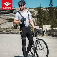 SANTIC <b>Autumn Winter Cycling</b> Bib Pants Gel Pad PRO Riding MTB ...