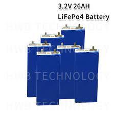 4X <b>3.2v LiFePO4</b> battery <b>26Ah</b> rechargeable li polymer cell for 12V ...