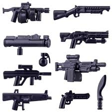 Hot Kids DIY Gift Toys <b>Small Particle Military</b> Building Block Weapon ...