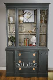Dining Room China Cabinets China Cabinet Painted In Custom Mix Of Annie Sloan Graphite And