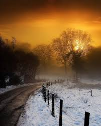 Image result for sunset over country road