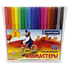 """Купить <b>Фломастеры CENTROPEN</b>, 18 цветов, """"<b>Пингвины</b> ..."""