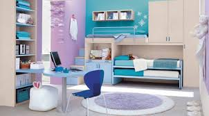 large blue and white bedroom bed girls teenage bedroom