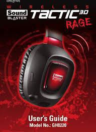 AVPGH0220B <b>Sound Blaster Tactic3D</b> Rage Wireless User Manual ...