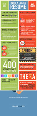 the do s and don ts to writing a rockin resume infographic the do s and don ts to writing a rockin resume