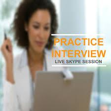 job interview practice skype