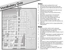Teaching Personal Finance to Teens - Math GiraffeFree Personal Finance / Consumer Math Vocabulary Crossword