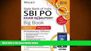 audiobook vocational aptitude test business unit staff through best pdf wiley s state bank of probationary officer sbi po exam goalpost big book mains