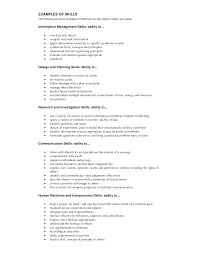 resume examples of skills and abilities resume builder resume examples of skills and abilities skills to put on a resume the interview guys knowledge