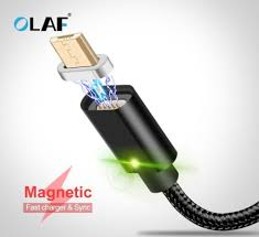 <b>OLAF</b> Micro USB Magnetic Cable Magnet <b>Quick Charge</b> USB Type ...
