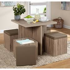 TMS <b>5</b>-<b>Piece</b> Baxter Dining Set with Storage Ottoman, Multiple Colors