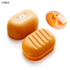 <b>CTREE</b> Hot Sale <b>Portable Soap Dishes</b> Cute Cartoon Bear Box ...