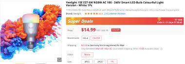 Super Deal: Get <b>Yeelight</b> 1SE Smart LED Bulb for $14.99 ...