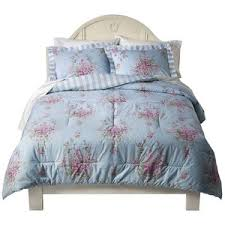 simply shabby chic cottage rose comforter set blue blue shabby chic bedding