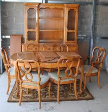 French Provincial Dining Room Sets Danish Dining Room Set Details About 8 Wood Frame Jens Risom