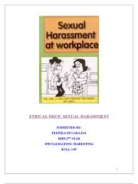 research paper on sexual harassment at workplace in research paper on sexual harassment at workplace in