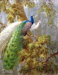 Cross Stitch Kit 5D <b>DIY Diamond Embroidery</b> Peacocks Animation ...
