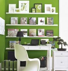 cool office decor ideas and bookshelf decor with green wall color for small space awesome decorating office layout office