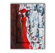 <b>Картина с арт рамой</b> Дама в красном 60х80 — купить по цене ...
