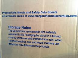 Morgan Thermal Ceramics Kaowool Thermal Ceramics Fiber Insulation Blanket 1 2amp034x12x24