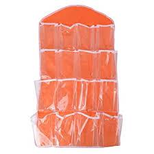 Orange/ 74x42cm/ 16 <b>Grid</b> Wall-Mounted Ornament <b>Storage Bag</b>