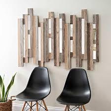 Natural <b>Wooden Planks</b> Mirrored <b>Wall</b> Plaque | Kirklands