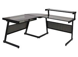 modern office glass desk black glass office desk 1