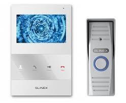 ≡ Комплект <b>видеодомофона Slinex SQ-04M White</b> + Панель ...