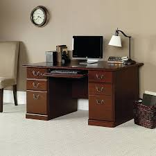 sauder heritage hill 60 executive desk 29h x 59 1 cherry custom home office desk