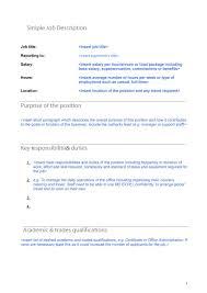 49 job description templates examples template s job description template 06