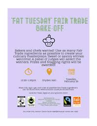 fair trade bake off feb dryden saint mary s college fair trade bake off flyer